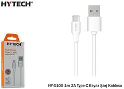 Hytech - Hytech HY-X100 1m 2.0A Type-C Beyaz Şarj Kablosu
